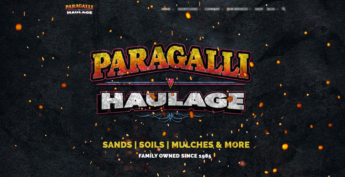 website design paragalli haulage