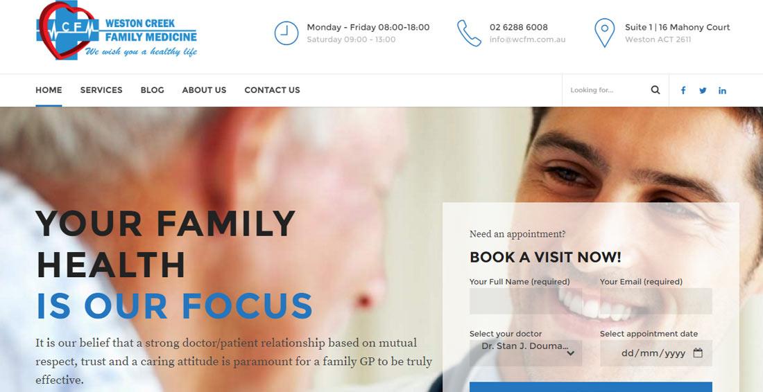 canberra website design WCFM